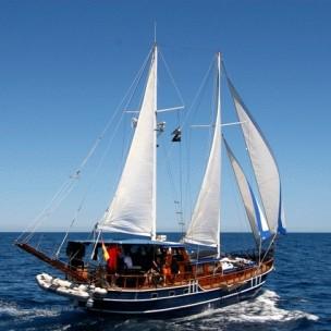 Columbretes a bordo de la Goleta San Sebastian